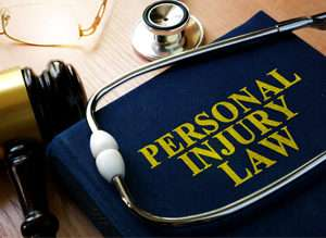 Desk of a personal injury lawyer